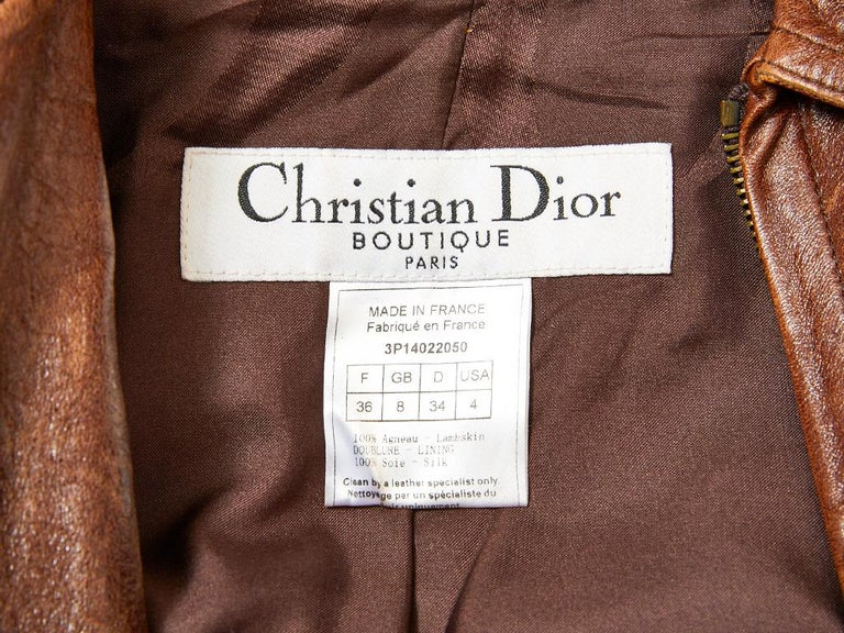 John Galliano For Dior Distressed Leather Jacket For Sale 3