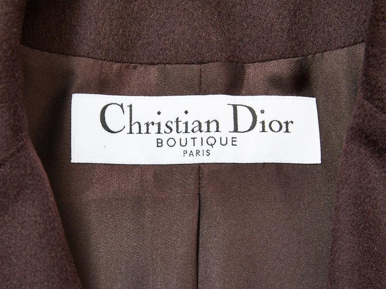 John Galliano for Dior Leather and Wool Bomber Jacket For Sale 4