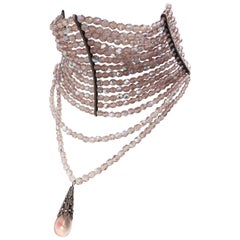 John Galliano for Dior Maasai Collier de Chien Pink Iridescent Choker Necklace
