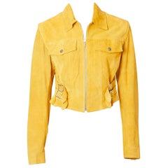 John Galliano for Dior Suede Motorcycle Jacket