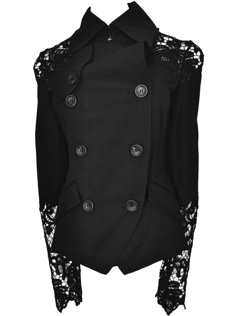 John Galliano Military Style Tailored Lace Jacket 5