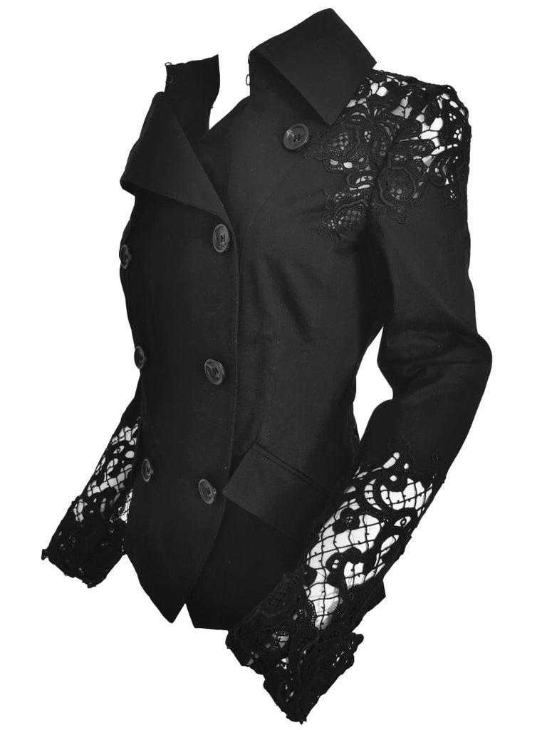 John Galliano Military Style Tailored Lace Jacket 6
