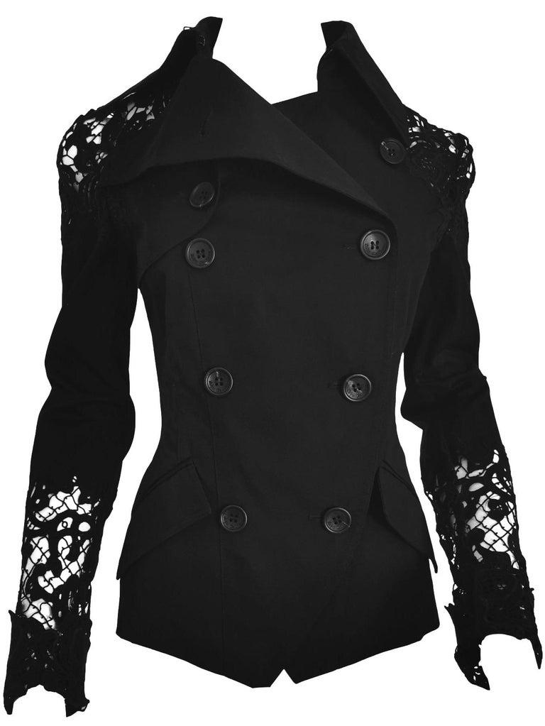 John Galliano Military Style Tailored Lace Jacket 7