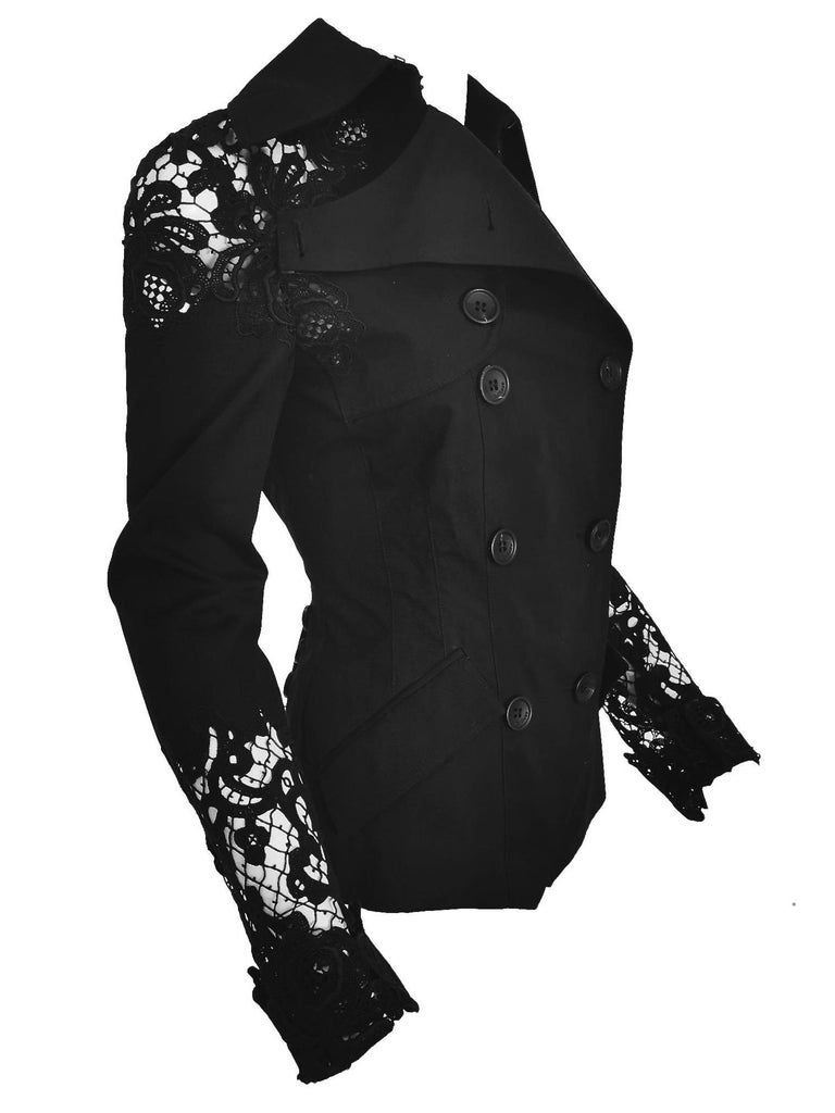 John Galliano Military Style Tailored Lace Jacket 8