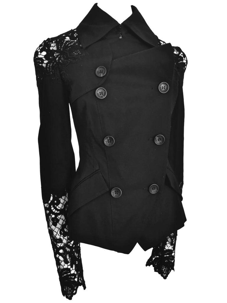 John Galliano Military Style Tailored Lace Jacket 10