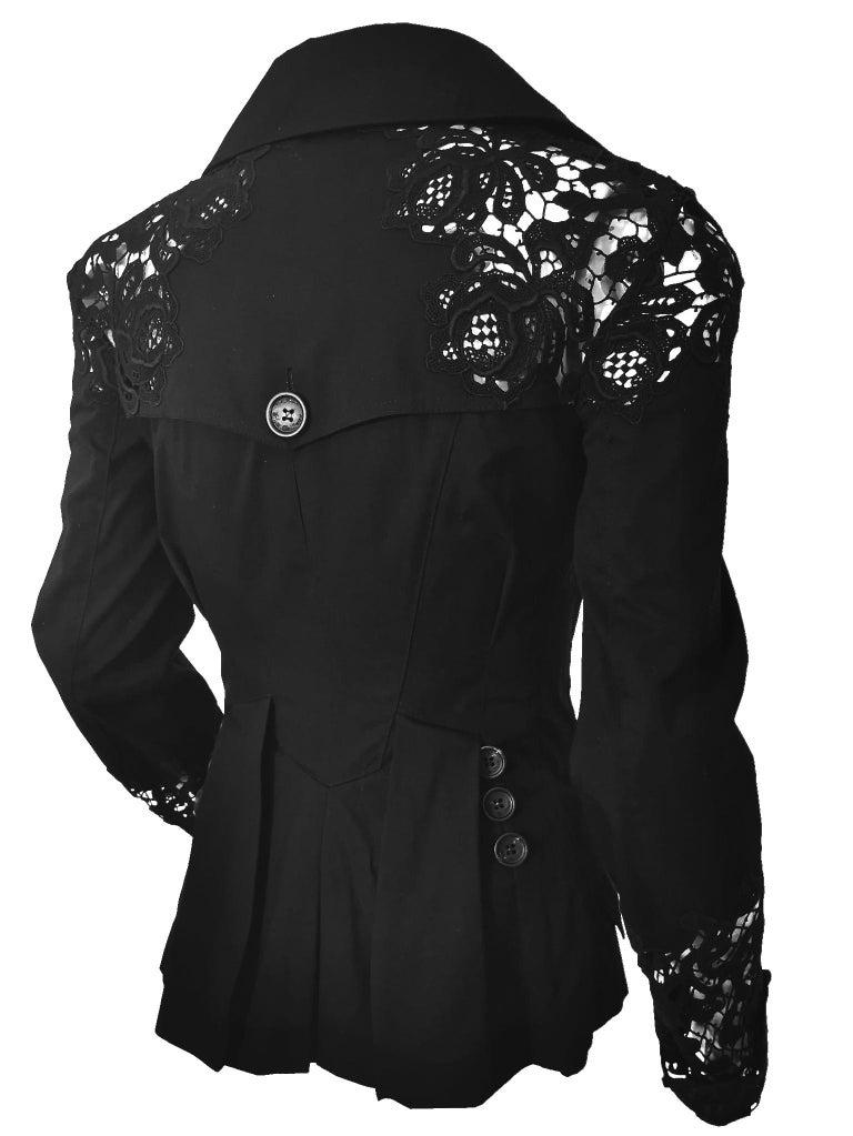 John Galliano Military Style Tailored Lace Jacket 11