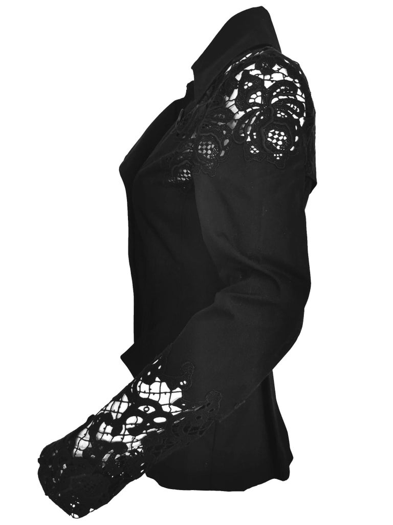 John Galliano Military Style Tailored Lace Jacket 12
