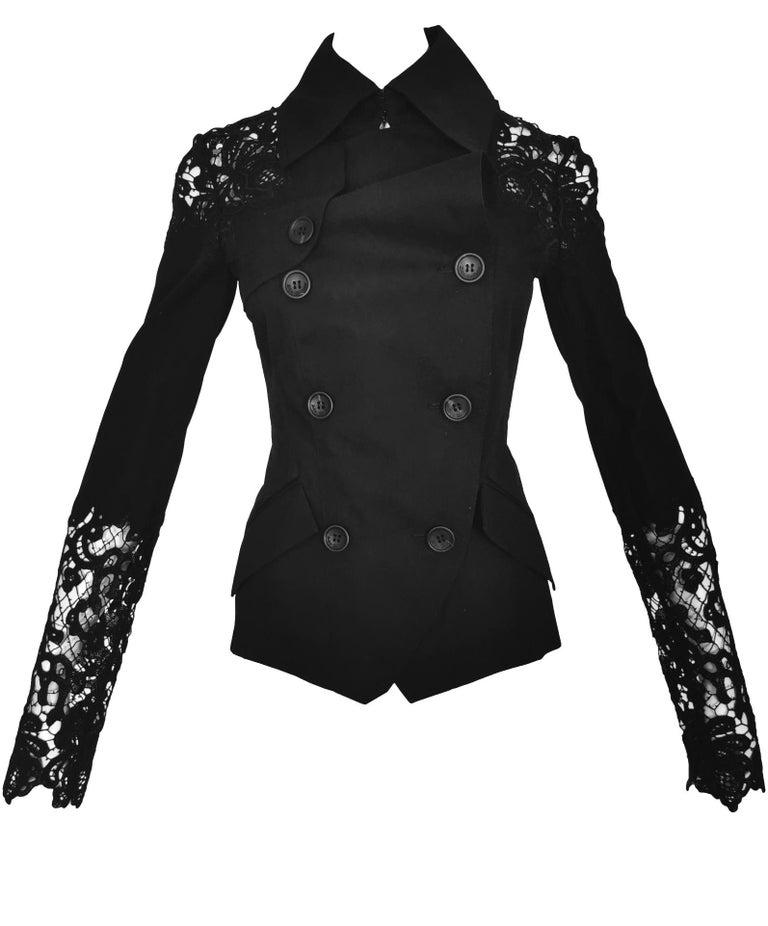 John Galliano Military Style Tailored Lace Jacket 13