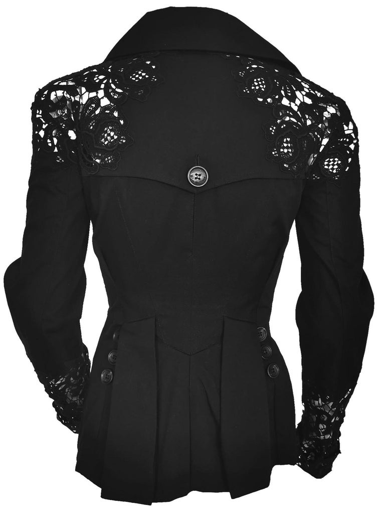 John Galliano Military Style Tailored Lace Jacket In Excellent Condition In Bath, GB