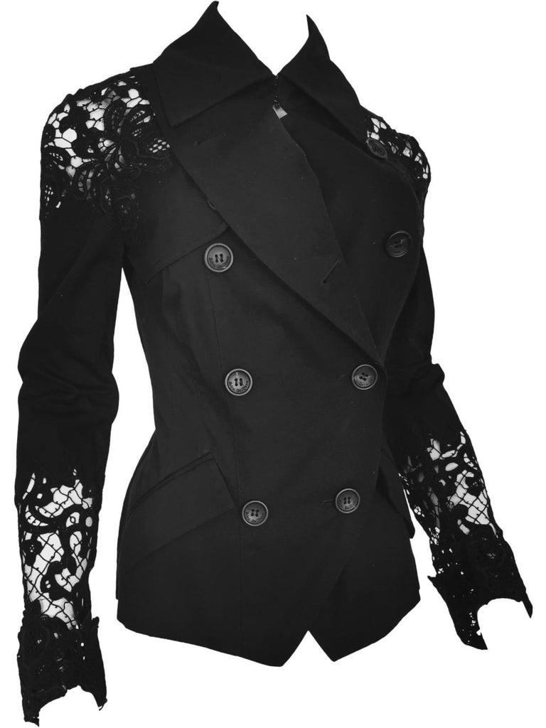 Women's John Galliano Military Style Tailored Lace Jacket