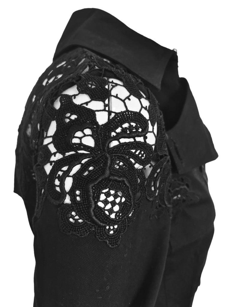 John Galliano Military Style Tailored Lace Jacket 1