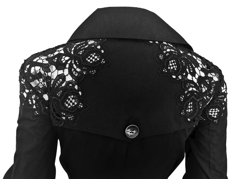 John Galliano Military Style Tailored Lace Jacket 2