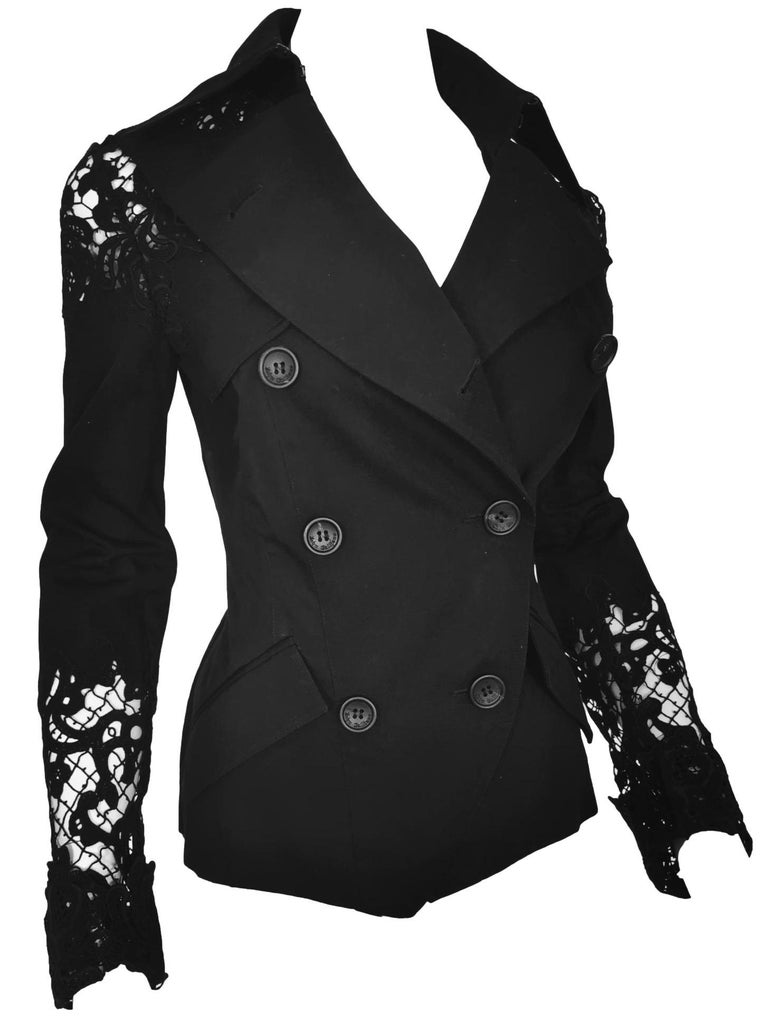 John Galliano Military Style Tailored Lace Jacket 3