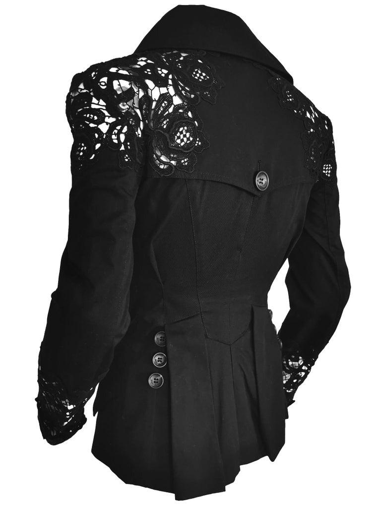 John Galliano Military Style Tailored Lace Jacket 4