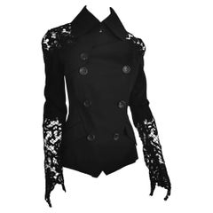 John Galliano Military Style Tailored Lace Jacket