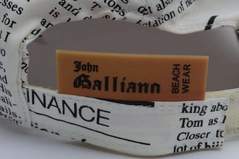 John Galliano Newspaper Print Cap 2