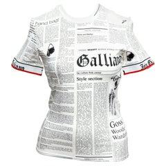 John Galliano Newspaper T-Shirt