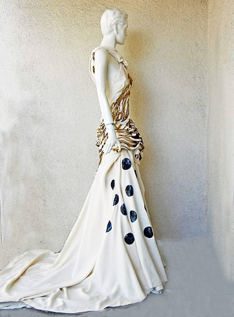 Women's John Galliano Rare 2007 Runway Collection Finale Dress Gown For Sale