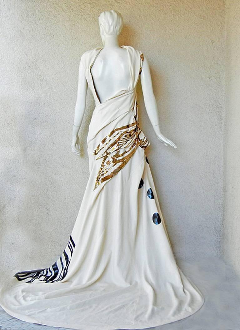 John Galliano Rare 2007 Runway Collection Finale Dress Gown For Sale 1