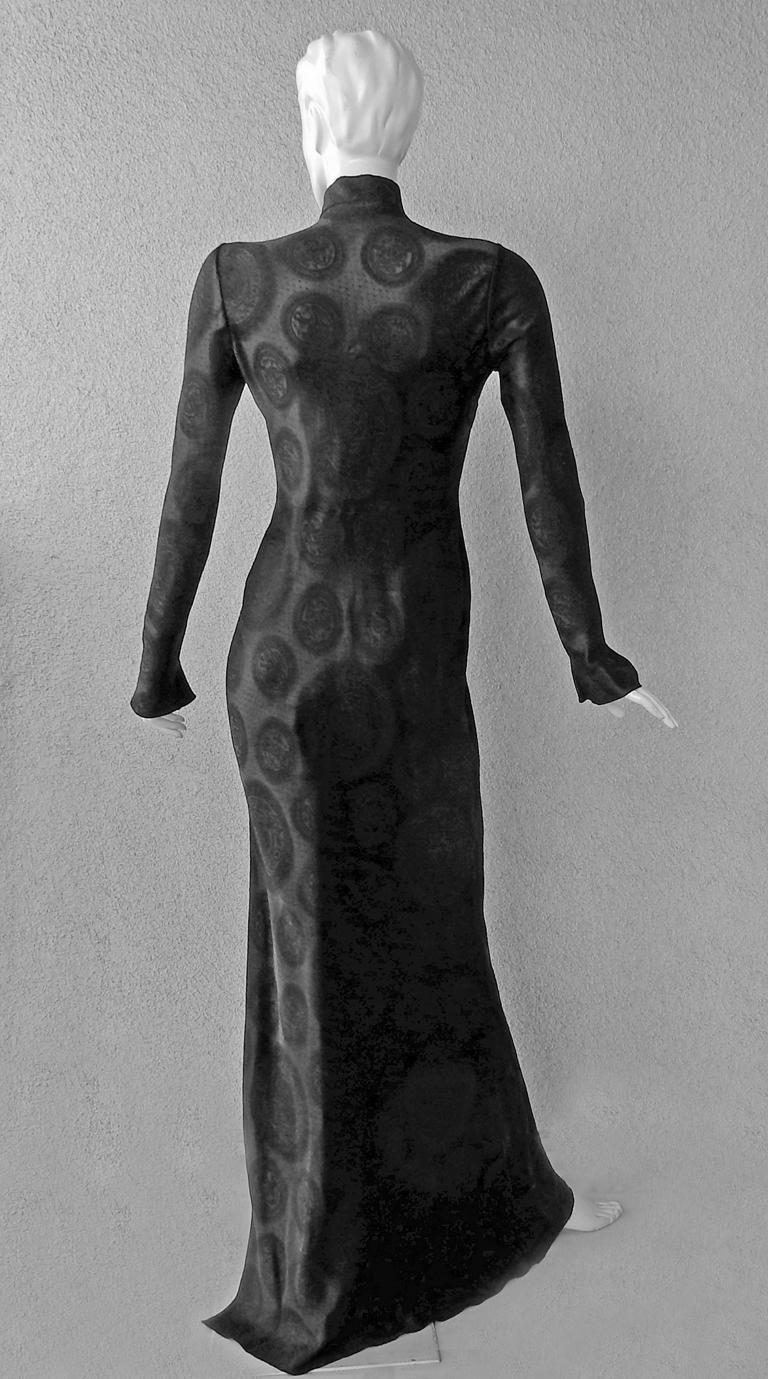 Women's John Galliano Signature Vintage Cheongsam Silk Jacquard Dress Gown For Sale