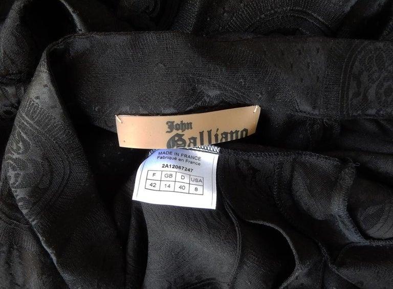John Galliano Signature Vintage Cheongsam Silk Jacquard Dress Gown For Sale 4