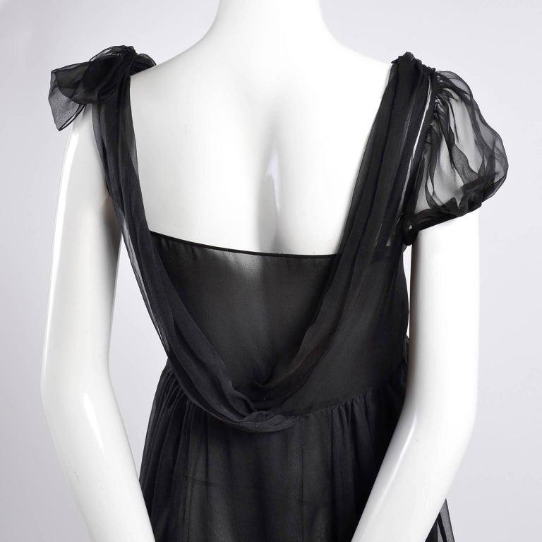 F/W 2006 John Galliano Black Sheer Silk Dress w/ Overlay  Renaissance Inspired For Sale 5