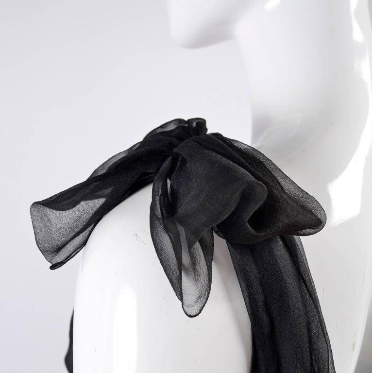 F/W 2006 John Galliano Black Sheer Silk Dress w/ Overlay  Renaissance Inspired For Sale 7