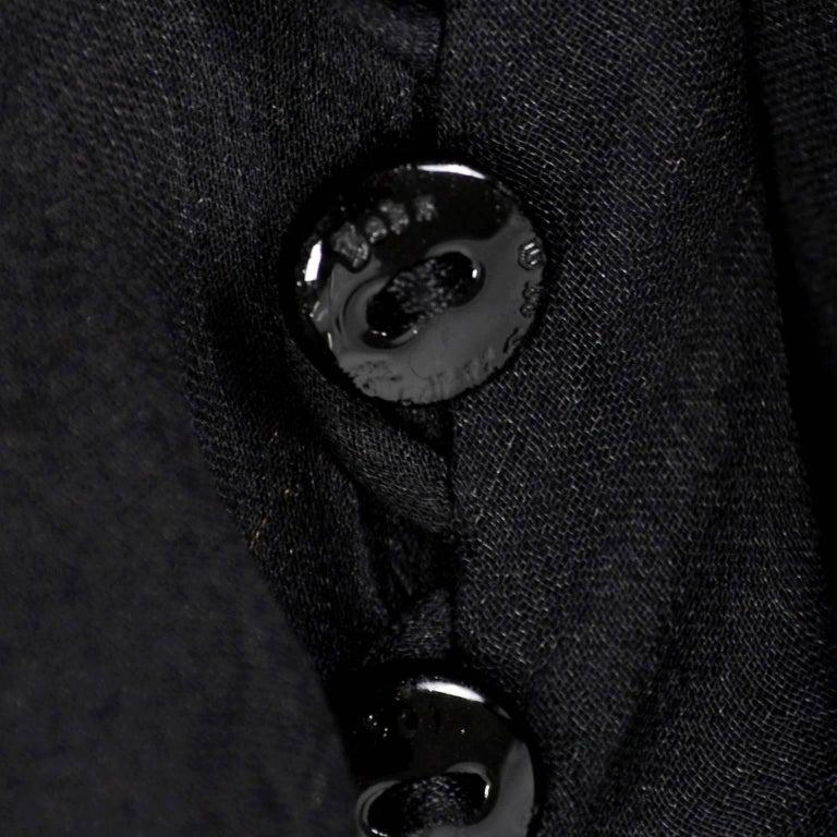 F/W 2006 John Galliano Black Sheer Silk Dress w/ Overlay  Renaissance Inspired For Sale 9