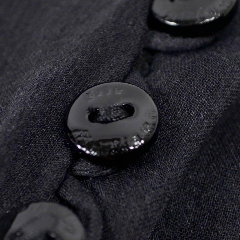 F/W 2006 John Galliano Black Sheer Silk Dress w/ Overlay  Renaissance Inspired For Sale 10