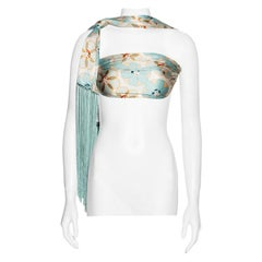 John Galliano silk multifunctional fringed bandeau top / scarf, ss 2001