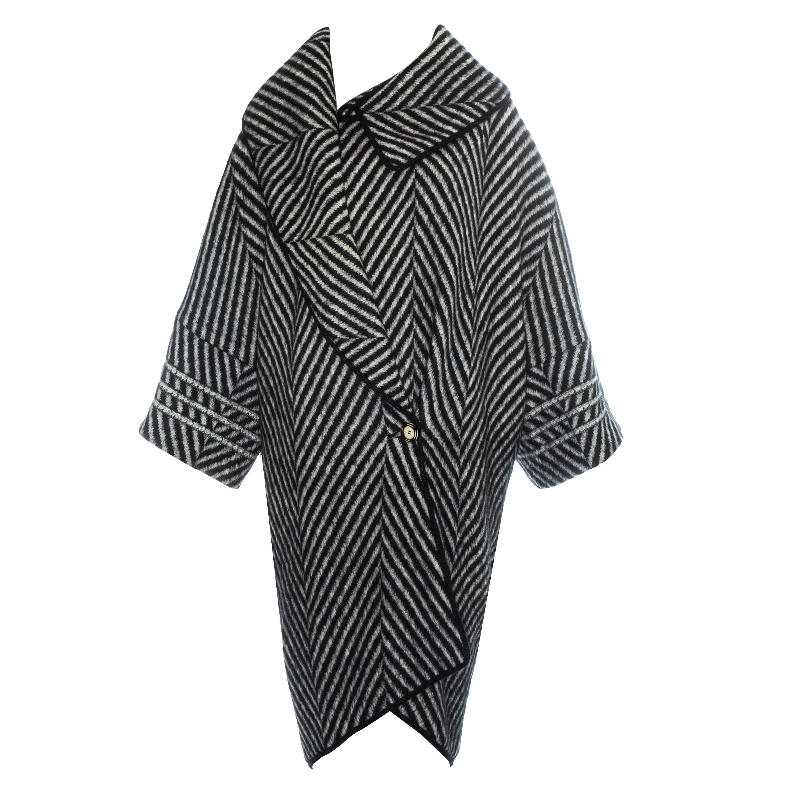 John Galliano striped mohair blanket coat, fw 1999