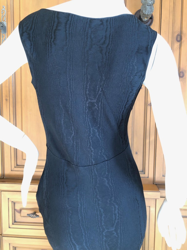 John Galliano Vintage 1999 Bias Cut Wood Grain Pattern Black Evening Dress 6