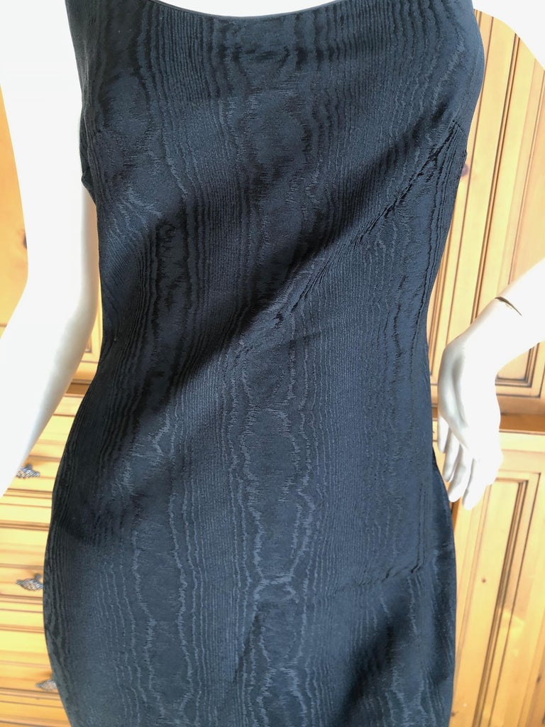 John Galliano Vintage 1999 Bias Cut Wood Grain Pattern Black Evening Dress In Excellent Condition In San Francisco, CA