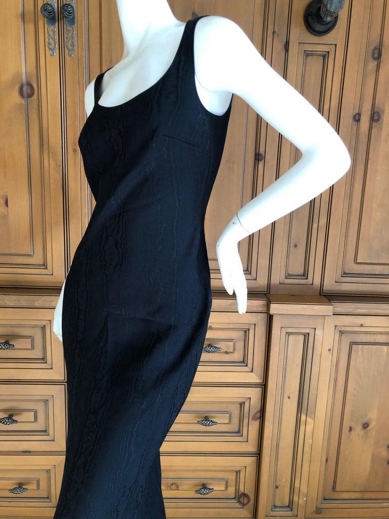 John Galliano Vintage 1999 Bias Cut Wood Grain Pattern Black Evening Dress 2