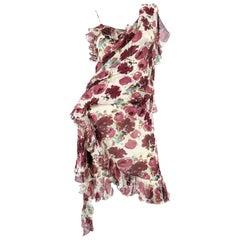 John Galliano Vintage Silk Chiffon Dress