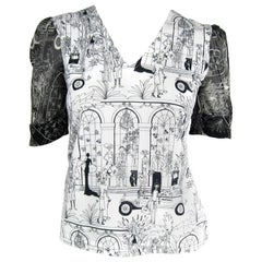 John Galliano Whimsical Print Tee Shirt 1990s