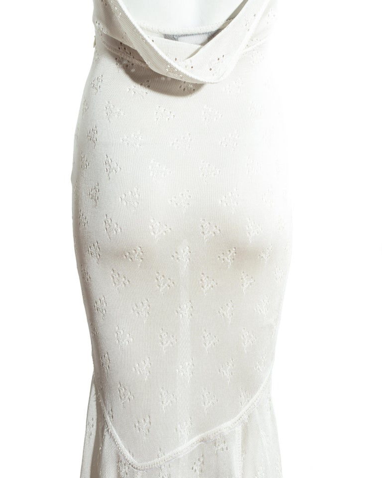 John Galliano white crochet knitted maxi dress, ss 2000 For Sale 2