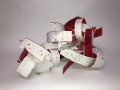 Confetti Dragon, Contemporary Sculpture with Hand Made and Commercial Papers