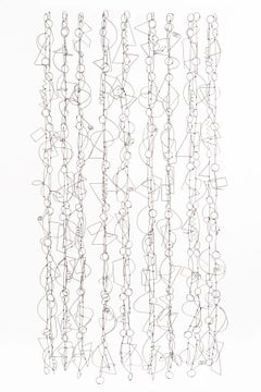 """Wire Songs"", Contemporary, Mixed Media, Sculpture, Plied Wire, Aluminum, Metal"