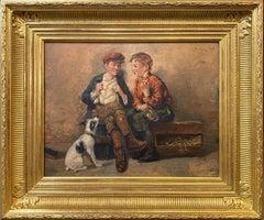Shoeshine Boys with a Dog 1897
