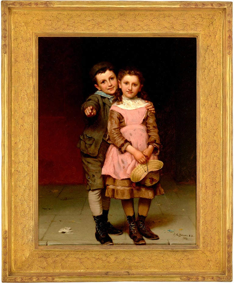 Something to See  - Painting by John George Brown