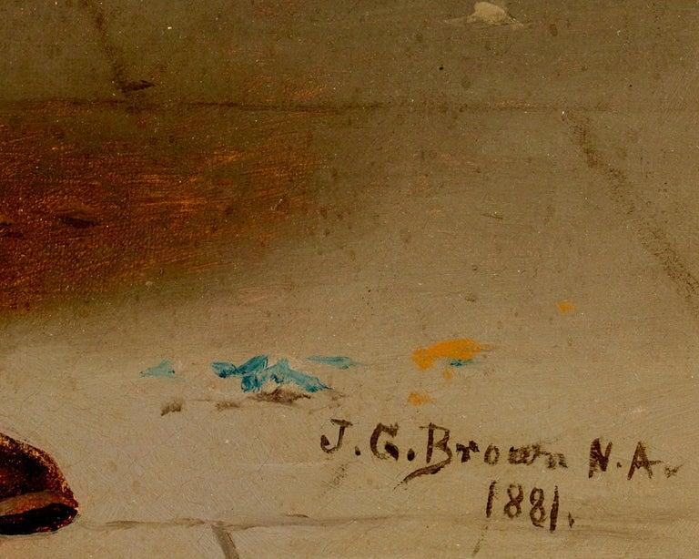 Something to See  - Black Portrait Painting by John George Brown