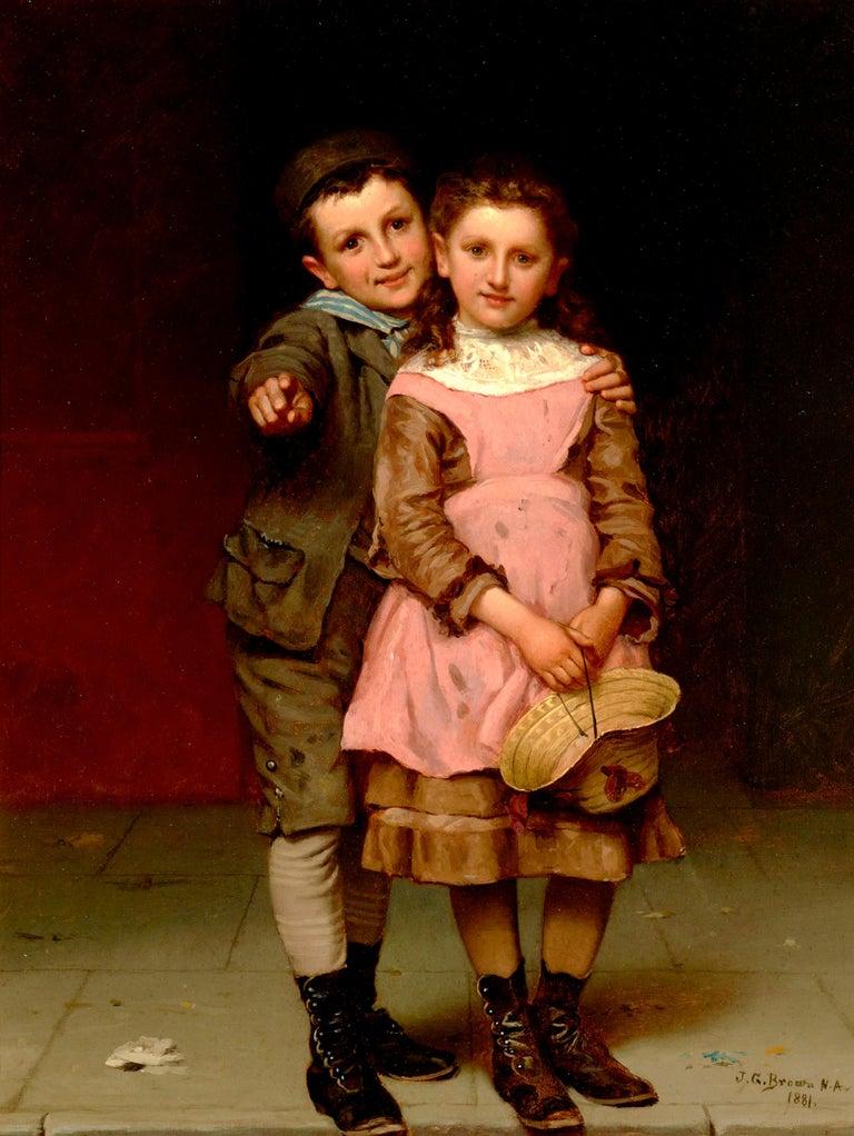 John George Brown Portrait Painting - Something to See