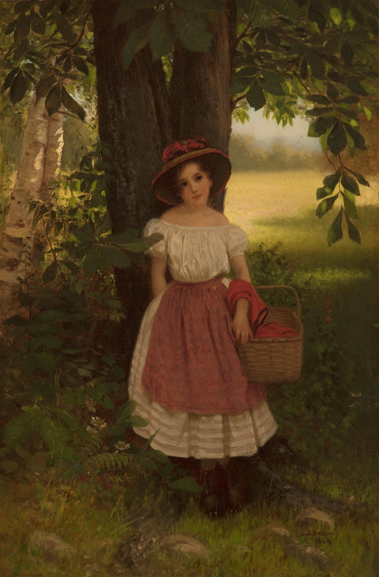 John George Brown Figurative Painting - The Berry Picker