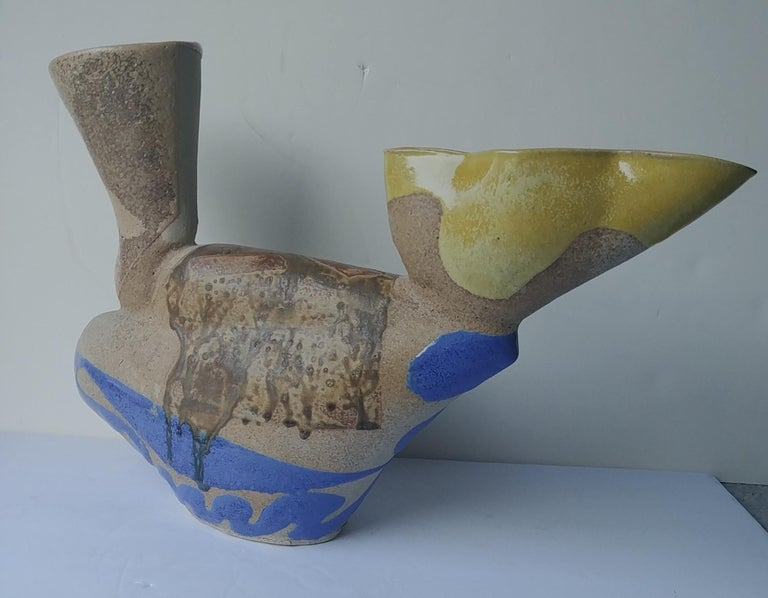 Post-Modern John Gill Large Ewer, Sculpture, Earthware/Ceramic/Pottery, Signed, Dated For Sale