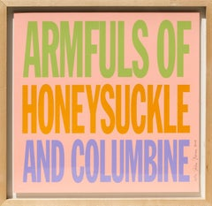 Armfuls of Honeysuckle and Columbine, Pop Art Screenprint by John Giorno