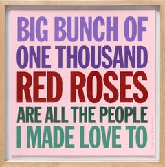 Big Bunch of One Thousand Red Roses, Pop Art Screenprint by John Giorno