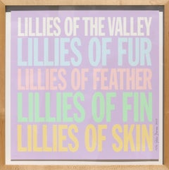 Lillies of the Valley, Pop Art Screenprint by John Giorno