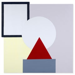 Red Triangle on Gray