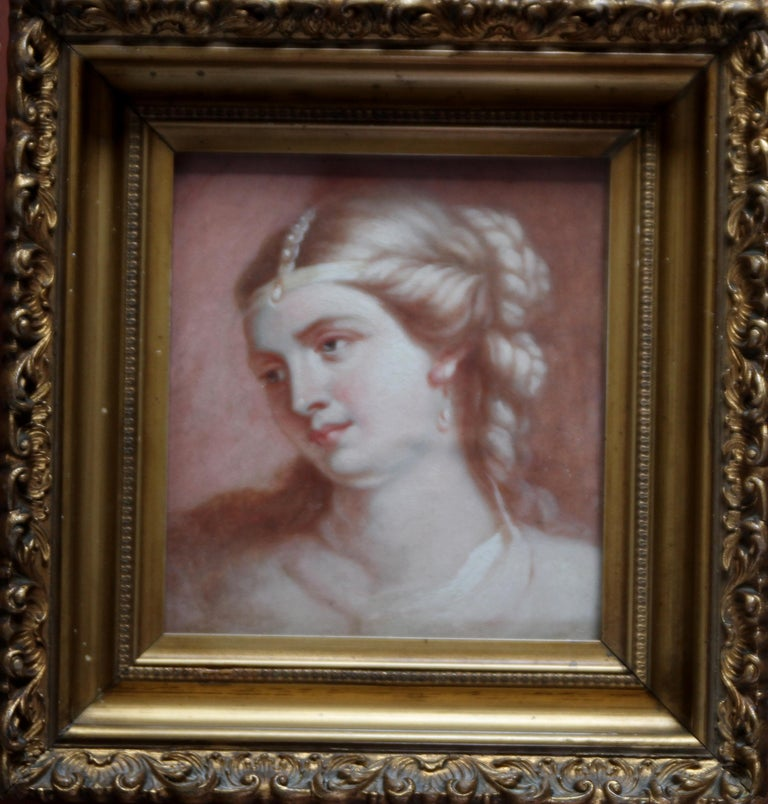 Portrait of a Lady - Old Master Scottish art oil painting by RSA president For Sale 2